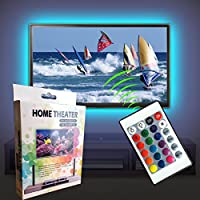 Magic BEAM USB LED TV Backlight Kit, 50-60 Inch TV Backlighting LED Strip Lighting Home Movie Theater Decoration + Remote Controller (50-60)