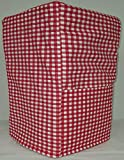 Quilted Red Checked Bread Machine Cover (All Red Checked)