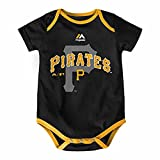Majestic Athletic Pittsburgh Pirates Infant Onesie Size 12 Months Bodysuit Creeper Black