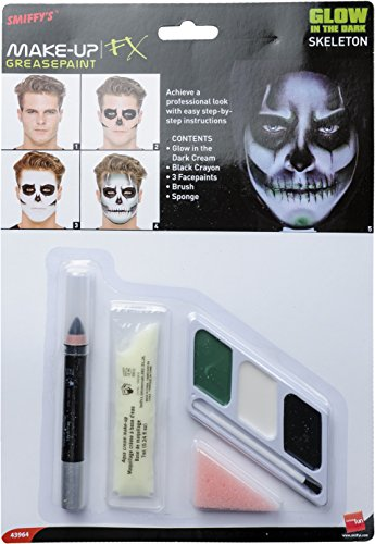 [Smiffy's Glow in The Dark Skeleton Kit] (Skeleton Makeup)
