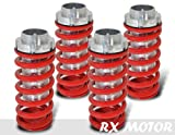 RXMOTOR COIL-501RD Honda Civic Accord Prelude Adjustable Damper Coil Over Aluminum Sleeve Set, Red Kit