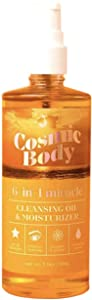 Cosmic Body, All Natural 6-In-1 Miracle - Cleansing Oil & Moisturizer, For All Skin Types, Removes Makeup, Cleanse and Prime, Hydration Serum, 3.9 oz