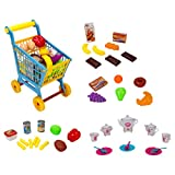 SumacLife Colorful Pretend Play 4 in 1 Kid Shopping Cart