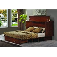 Arason Enterprises Creden-ZzZ Cabinet Bed in Traditional Pekoe - Queen Size