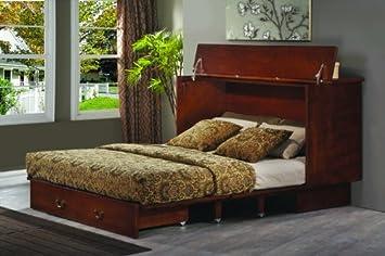 Exceptional Arason Enterprises Creden ZzZ Cabinet Bed In Traditional Pekoe   Queen Size