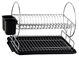 Neat-O Chrome Steel 2-Tier Dish Rack + Drainboard + Cutlery Cup Deal