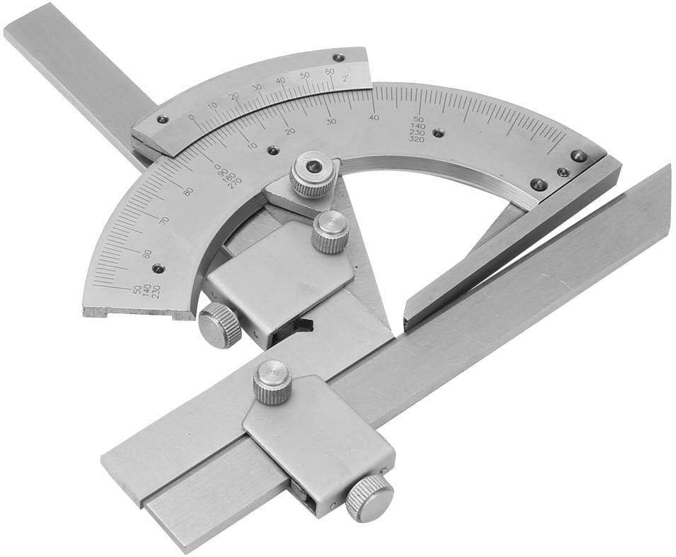 Beennex Universal Angle Measuring Gauge Carbon Steel 0~320/° Protractor Angle Finder Tool