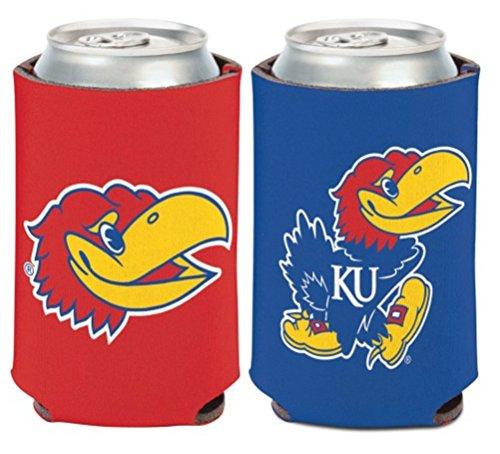 WinCraft NCAA University Kansas Jayhawks 1 Pack 12 oz. 2-Sided Can (Kansas Tailgate Cooler)