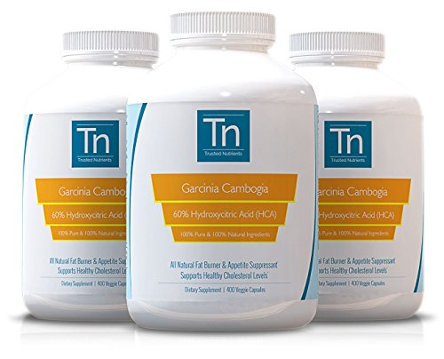 Trusted Nutrients 100% Pure, 60% HCA Garcinia Cambogia Extract: 400 Count - 500mg per Capsule by Trusted Nutrients (Image #3)