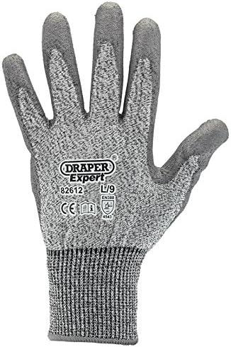 Draper 82612/Resistente de Corte Nivel 5/ Color Gris /Guantes