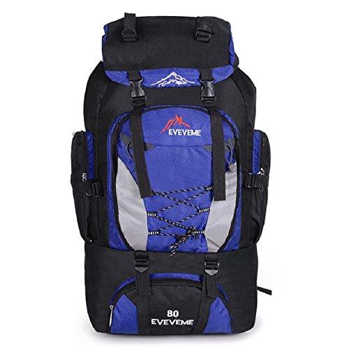 ZC&J 56-75L de gran capacidad al aire libre de moda mochila casual, ultra ligero de nylon de senderismo, mochila alpinismo, hombres y mujeres universal, de alta calidad mochila multi-funcional,C,56-75 E