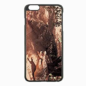 iPhone 6 Plus Black Hardshell Case 5.5inch - crocodiles shadow meat lunch Desin Images Protector Back Cover