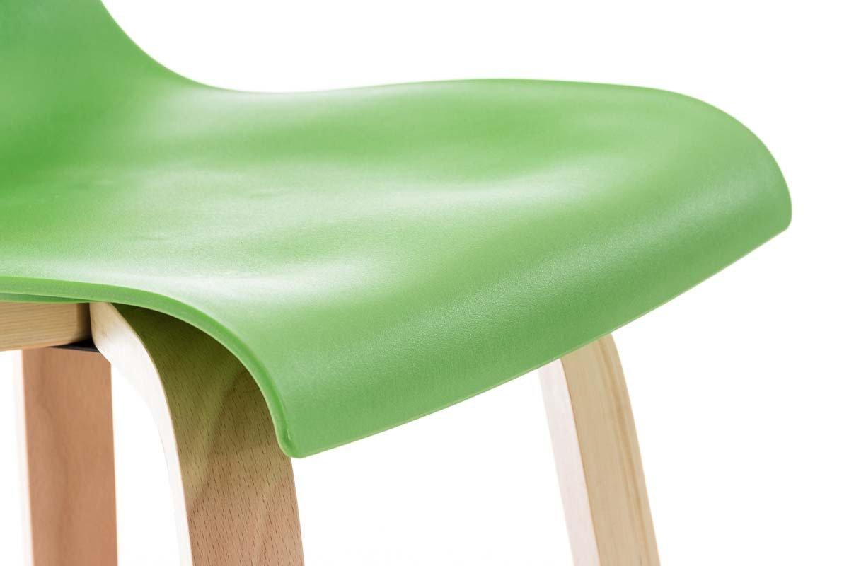 Clp sgabello alto di design malone con poggiapiedi polipropilene