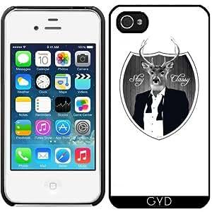 Funda para Iphone 4/4S - Ciervos Permanecen Con Clase by wamdesign