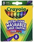 Arts & Crafts : Crayola Washable Crayons, Large, 8 Colors - 2 Packs