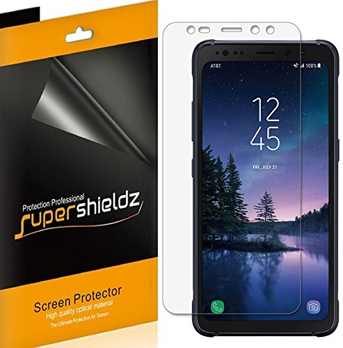 "[6-Pack] Supershieldz for Samsung ""Galaxy S8 Active"" (Not Fit for Galaxy S8 / S8 Plus Model) Screen Protector, Anti-Bubble High Definition Clear Shield + Lifetime Replacements Warranty"