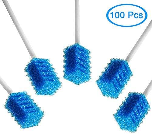 MUNKCARE Oral Care Swabs Disposable- Blue 100 Counts