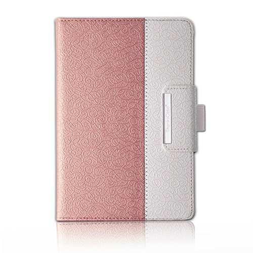 (Thankscase Rotating Case for Samsung Galaxy Tab A 8.0 2015 Release (Not Fit 2017 2018 Release) with Wallet with Hand Strap with Smart Cover Function for Tab A 8.0 Case .(Rose Gold 2))