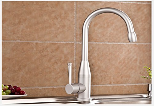 Furesnts Modern home kitchen and Bathroom Sink Taps Space aluminum slot sink kitchen Taps leadfree hot cold running water to rotate the Mixer Bathroom Sink Taps,(Standard G 1/2 universal hose ports)