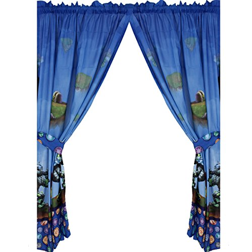 4pc Skylanders Window Curtains Spyro Sky Friends Window Panels and Tie-Backs