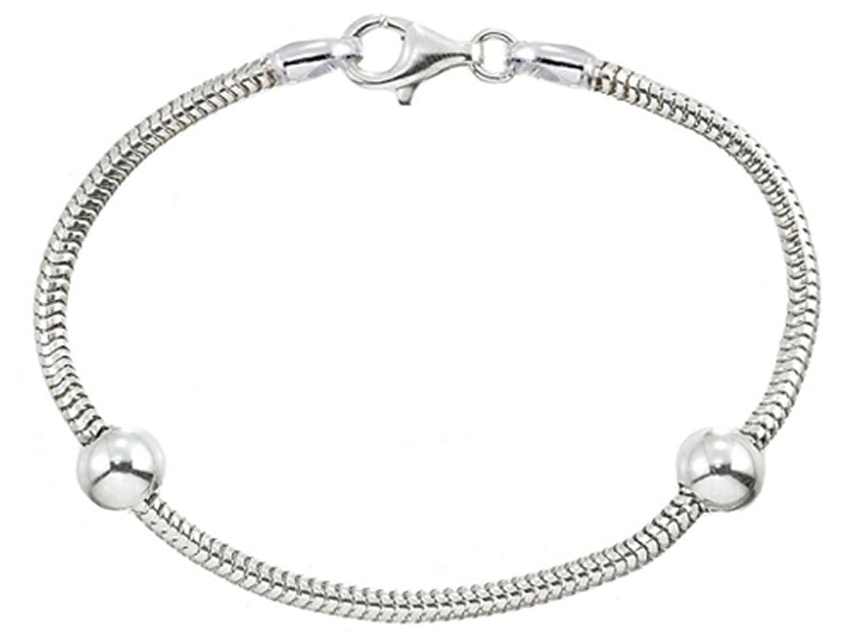 Zable Sterling Silver Starter Bracelet with 2 Smart Beads
