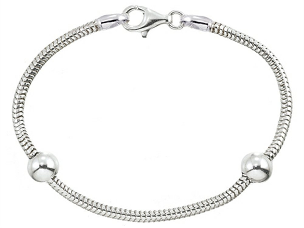 Zable Snake 9 inches Bracelet with Smart Bead / Charm