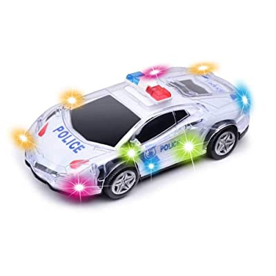 """Haktoys ATS Battery Operated Bump & Go Action 8"""" Police Car Justice Enforcement Team 