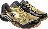 Yonex COURT ACE LIGHT Badminton Shoes,Gold, Black, Grey, Size UK 9/US 9.5