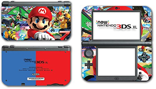 Mario Kart 8 Luigi Yoshi 7 Bowser Glider Video Game Vinyl Decal Skin Sticker Cover for the New Nintendo 3DS XL LL 2015 System Console