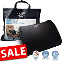 Orthopedic Memory Foam Seat Cushion – Sciatica Coccyx Pillow - Ergonomic Office Chair Cushion for Tailbone Pain for Computer Car Bus Plane Park Bench (1, Lumbar Cushion 38x35 cm)