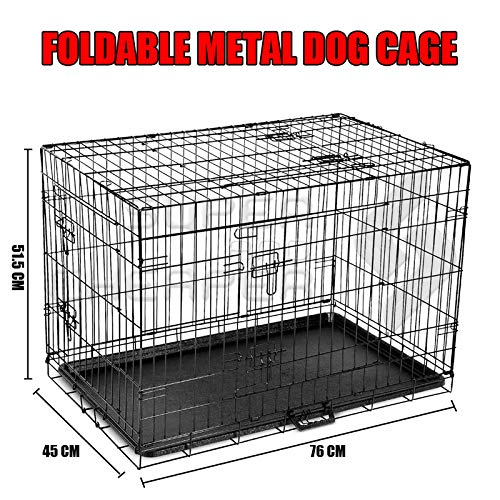 30 Medium Dog Kennel Collapsible Metal Crate Pet Puppy Cat Rabbit Cage