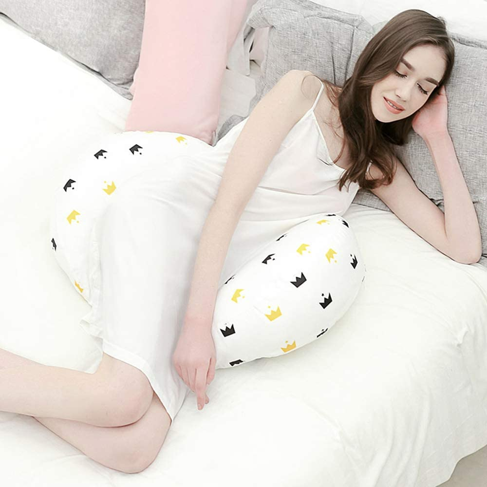 YANZHI U-Shaped Pregnancy Pillow for Pregnant Women,Side Sleeper Maternity Pillows Support for Back Legs,Maternity Pillow with Detachable and Adjustable Cotton Cover Hips