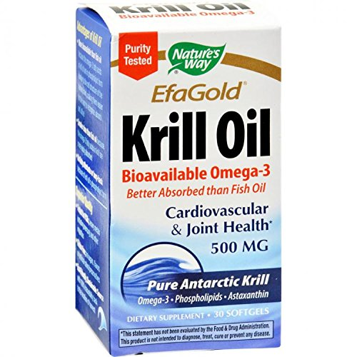 Efa Gold Krill Oil - Natures Way EfaGold Krill Oil Softgels by Nature's Way