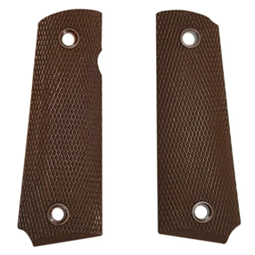 Trigger Happy Brand US Government Issue 1911 .45 Cal Nylon/Rubber Pistol Grips (Brown Nylon)