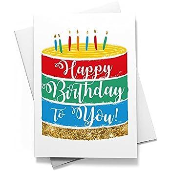 Amazon.com: El Dorado Capa – Tarjetas de cumpleaños, Blanco ...
