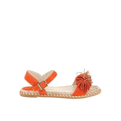 e4cbec57a90b Paloma Barceló Women s NMFLSUOR Orange Suede Sandals  Amazon.ca  Shoes    Handbags
