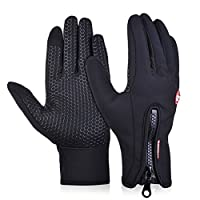 Byoung Winter Outdoor Windproof Cycling Gloves Touchscreen Glove for Smart Phone