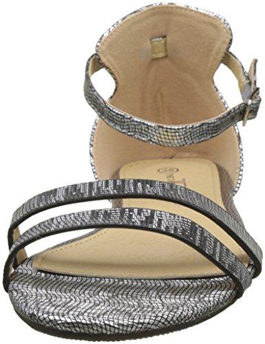 noir Abclia Femme Noir Cheville Sandales The Divine Factory Bride wn647B6F8W