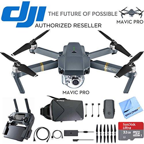 DJI Mavic Pro Quadcopter Drone with 4K Camera and Wi-Fi + Virtual Reality Experience Bundle