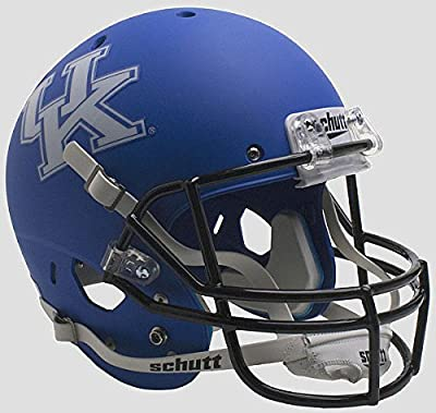 Kentucky Wildcats Full XP Replica Football Helmet Schutt Matte Royal - Licensed NCAA Merchandise