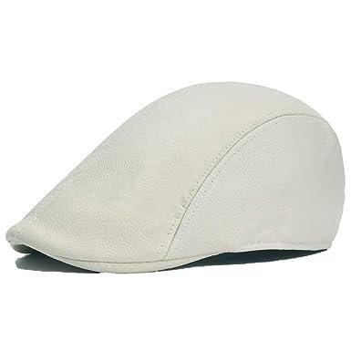 BZAHW Sombrero de Golf for Hombre Gorras de Boina Gorra de Cuero ...