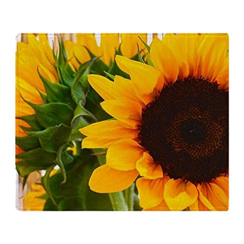 CafePress - Sunflower III - Soft Fleece Throw Blanket, 50