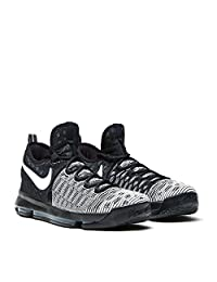"NIKE Mens Zoom KD 9"" Mic Drop Black/White 843392-010 Size 10 Kevin Durant"
