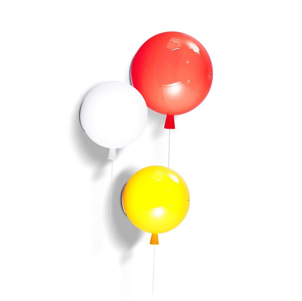 GJ Moderne Wandleuchte - Moderne Multicolor Ballon Licht Nordeuropa Einfache Halle Wohnzimmer Restaurant Schlafzimmer Nachttischlampe Kinderzimmer Wandleuchte GJV (Farbe : Orange, größe : M)