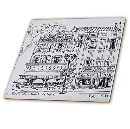 3dRose Danita Delimont - France - Restaurants in Place de LHotel de Ville, Aix en Provence, France. - 8 Inch Ceramic Tile (ct_313131_3)