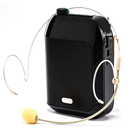 SINPO Portable Voice Amplifier,Rechargeable PA System with 2 Set Headset and Ear-hanging Wired Microphone for Teachers,Presentations,Coaches,Tour Guides by SINPO