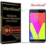 Marshland Tempered Glass Screen Protector 9H Hardness Crystal Clear 0.33mm Thickness 99% Transparency Bubble-Free Oleo phobic Coating Anti Shatter Tempered Glass for LG V20 (Transparent)