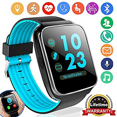 Fitness Tracker for Women Men Smart Watch with Blood Pressure Heart Rate Monitor Pedometer Calorie Wrist Stopwatch Activity GPS Tracker for Android iOS Holiday Birthday Ideal