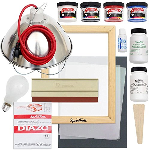 Screen Printing Starter Kits - Speedball Emulsion Screen Printing Starter Bundle, Reusable Screen