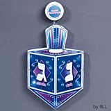 "16"" Battery Operated LED Lighted ""Happy Chanukah"" Dreidel Window Decoration"